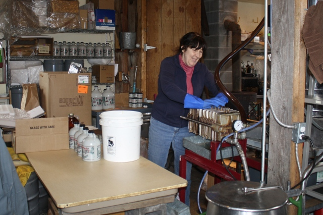Jeanne changes the filters periodically through the day.