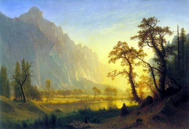 Albert Bierstadt - Sunrise, Yosemite Valley