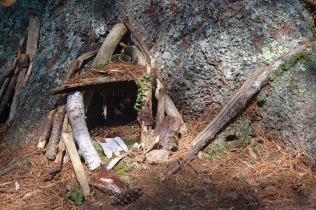 Fairy house in the forest