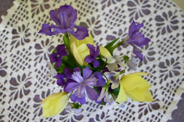 Tulip/Iris flower arrangement