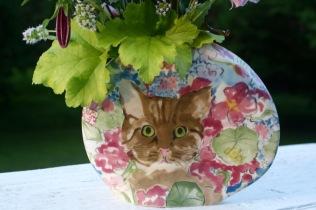 Cat Pocket Vase