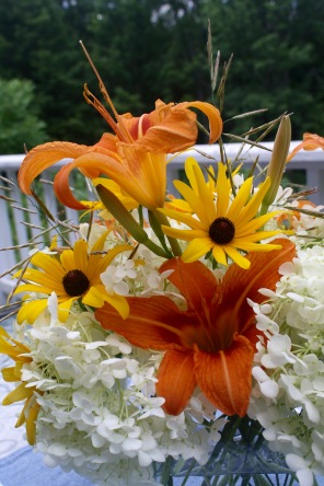 Daylilies and Black-eyed Susans