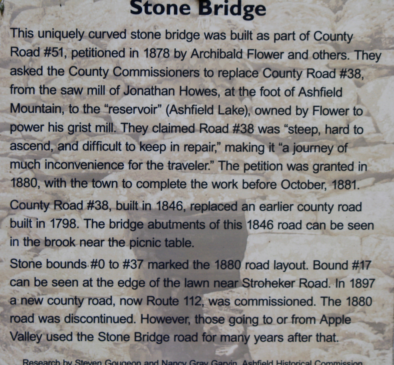 Stone bridge, Ashfield, MA