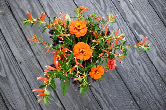 Top view, floral design